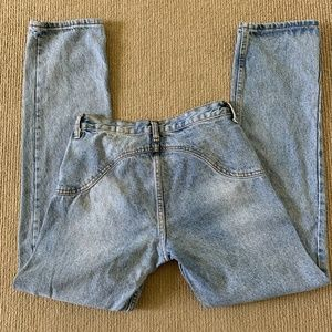 Brandy Melville Button Fly Faded Jeans - Size S